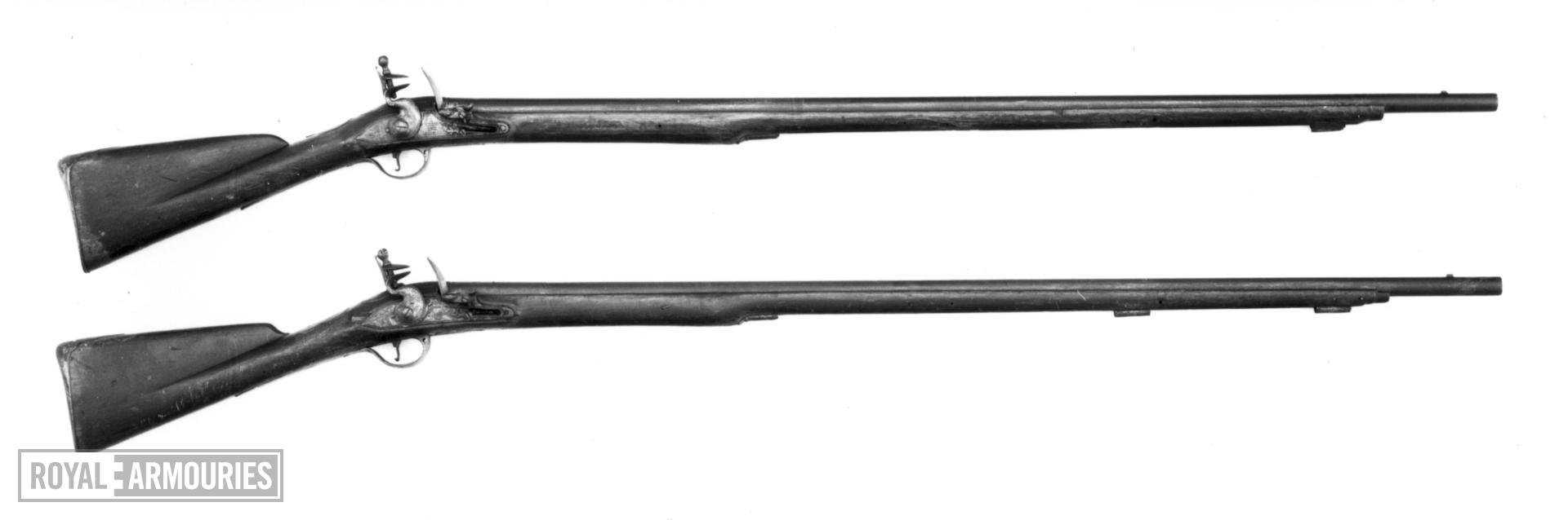 Flintlock muzzle-loading military musket - By Haskins