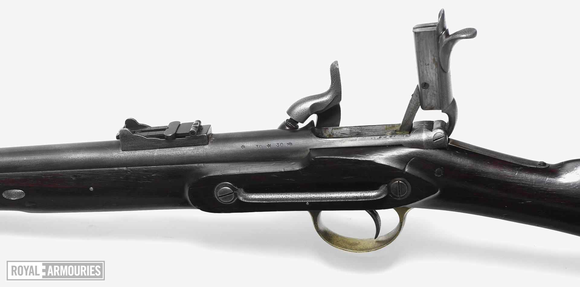 Percussion breech-loading carbine - J. R. Cooper's System Siddons Patent, backsight of Enfield pattern