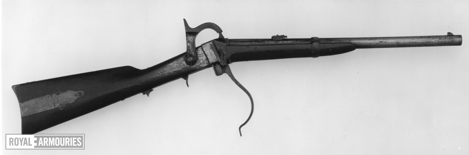 Percussion breech-loading military carbine - Sharps Model 1855