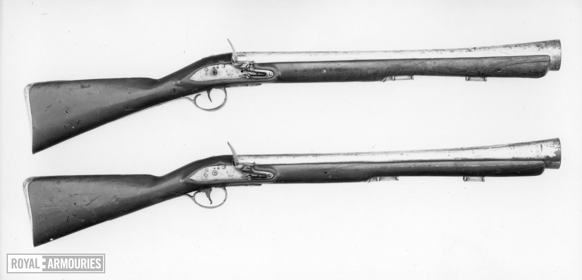 Flintlock muzzle-loading military blunderbuss - By Knubley