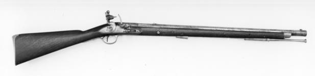 Thumbnail image of Flintlock muzzle-loading military carbine - By H. Nock For the Cobham Yeomanry Cavalry, raised by the 4th Earl of Darnley
