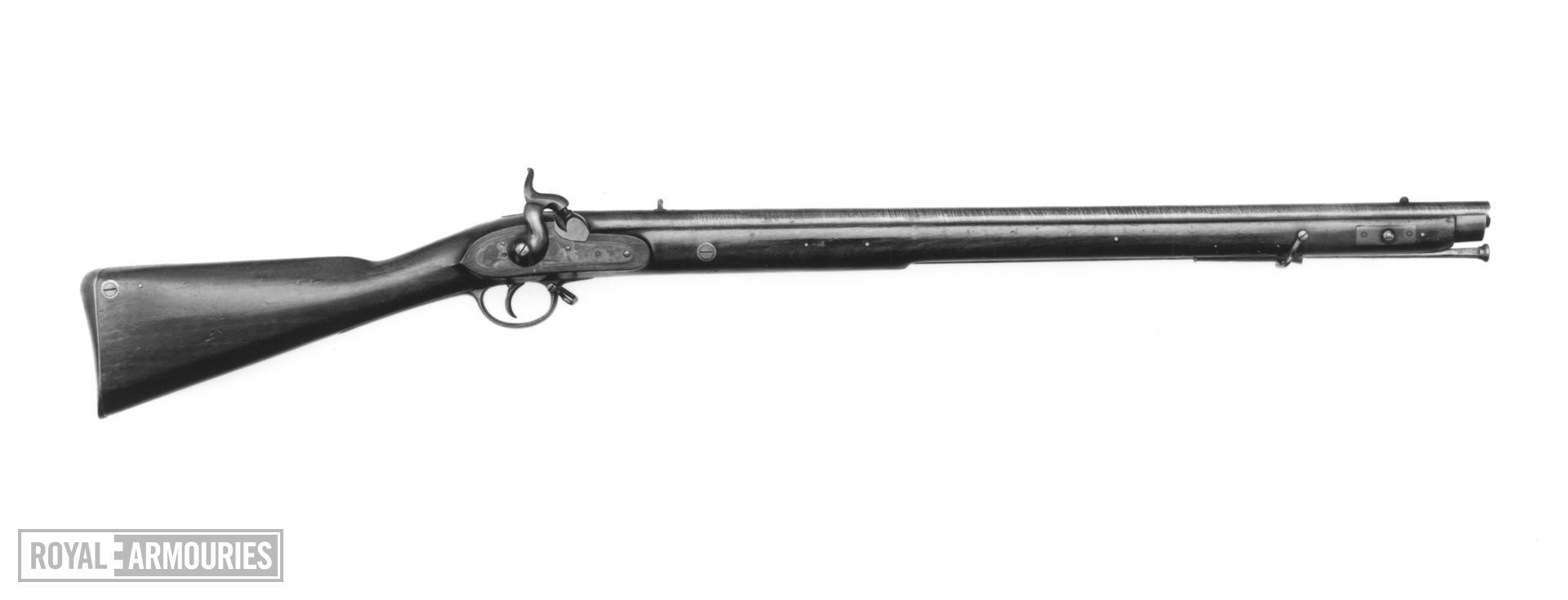 Percussion muzzle-loading military rifle - Brunswick rifle
