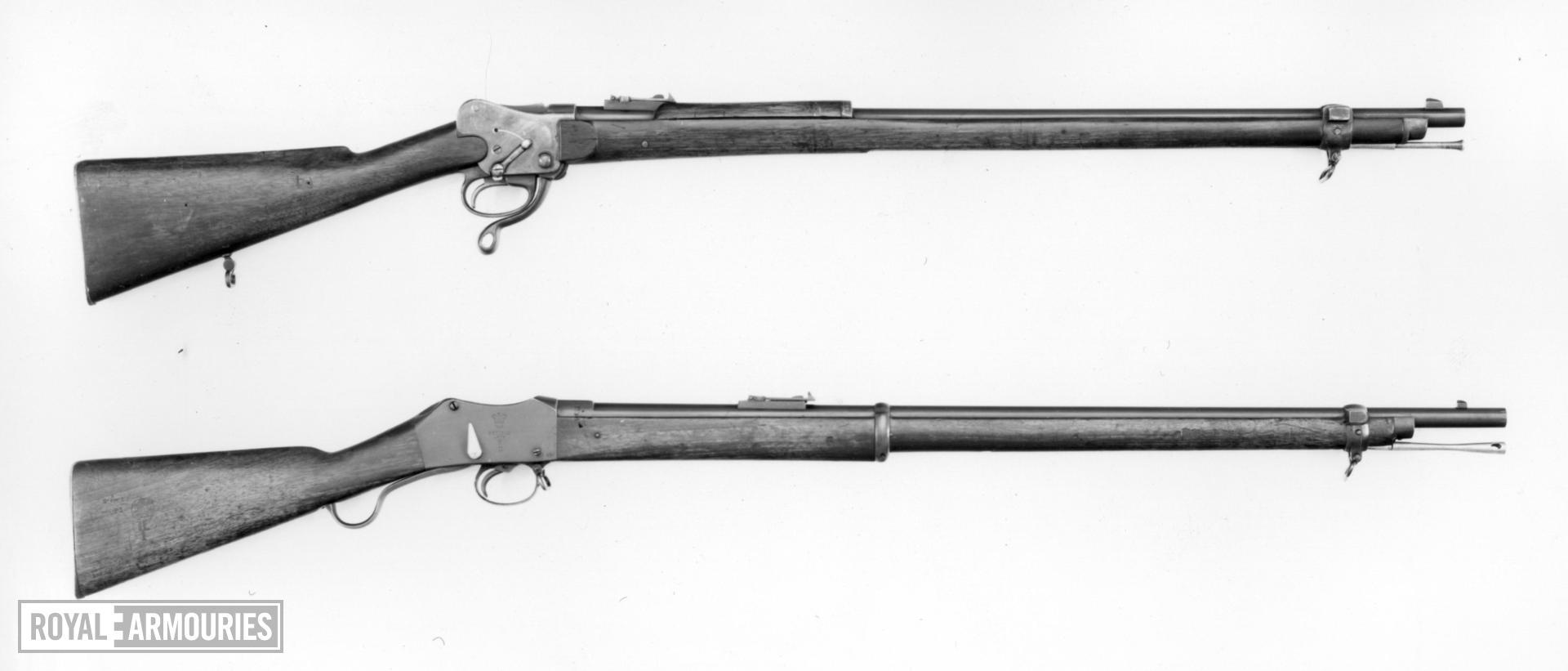 Centrefire breech-loading rifle - Fields Patent