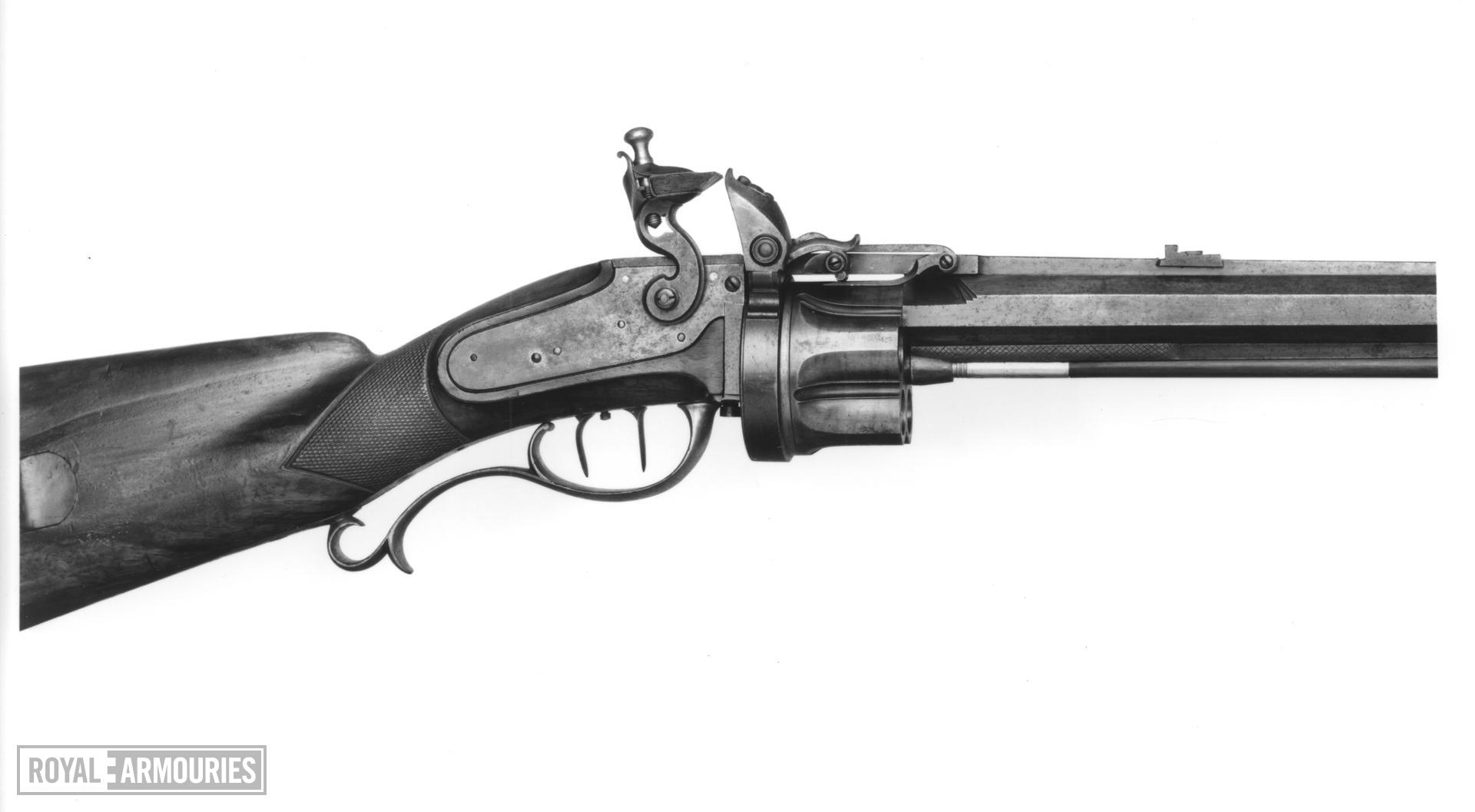 Flintlock revolver rifle - Kolb rifle