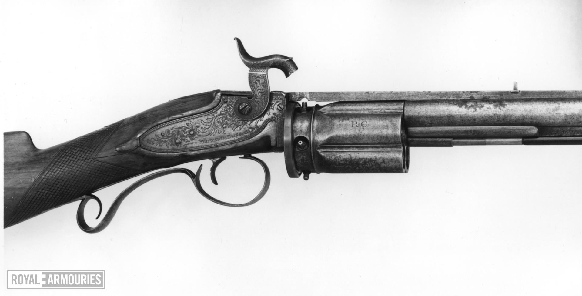 Percussion five-shot revolver rifle - Collier Patent Collier's patent by Francis Edwards