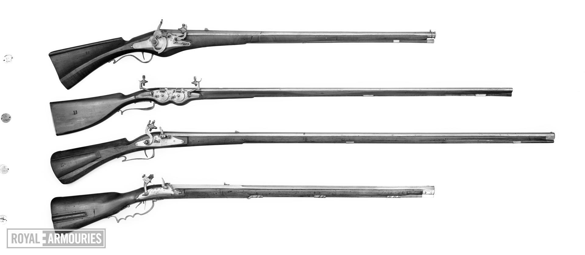 Snaphaunce muzzle-loading rifle - Ortner rifle