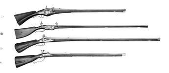 Thumbnail image of Snaphaunce muzzle-loading rifle - Ortner rifle By Bernard Ortner Lock of Swedish type
