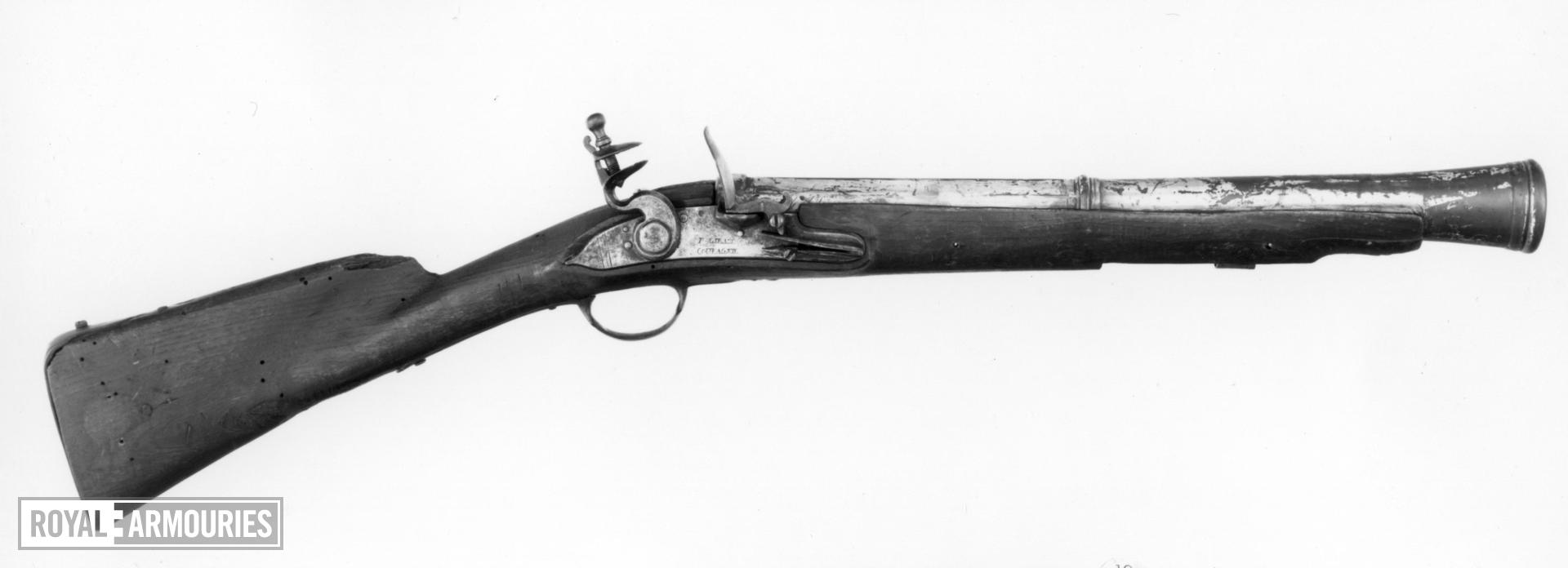 Flintlock muzzle-loading blunderbuss - By P. Girard and Compagnie