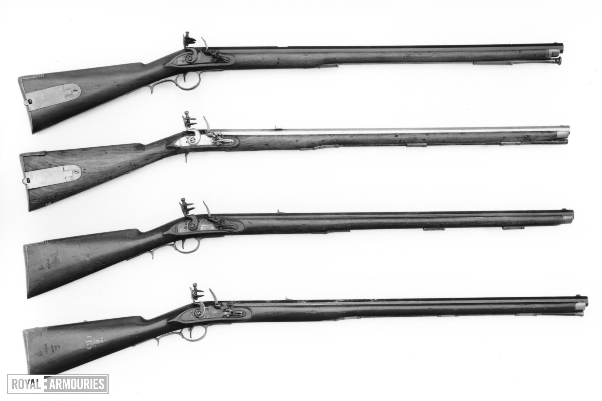 Flintlock muzzle-loading rifle - By Lacy & Co For the American market