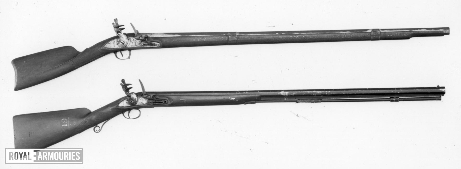 Flintlock gun Standard East India Company carbine lock Steel, Baker's improved pattern