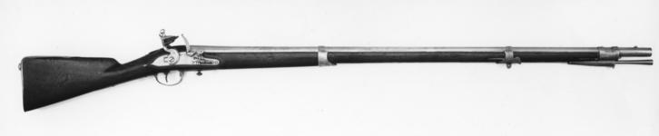 Thumbnail image of Flintlock muzzle-loading military musket - Model 1774 Fitted bayonet X.169