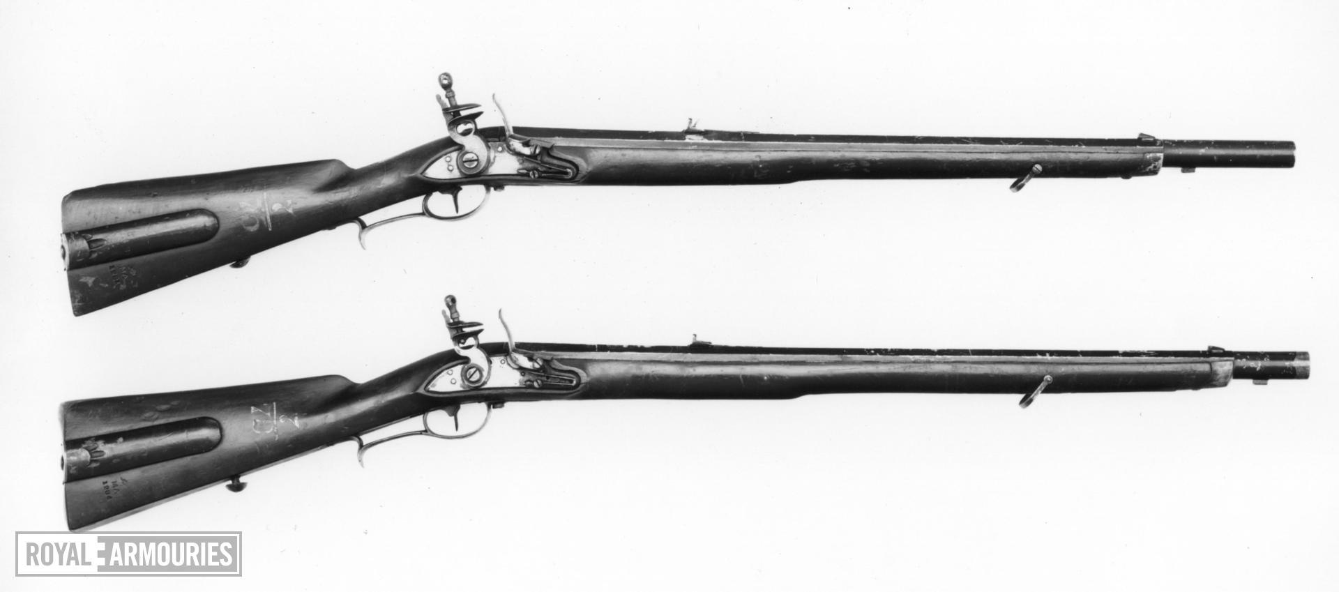 Flintlock muzzle-loading rifle - Jager Model 1807