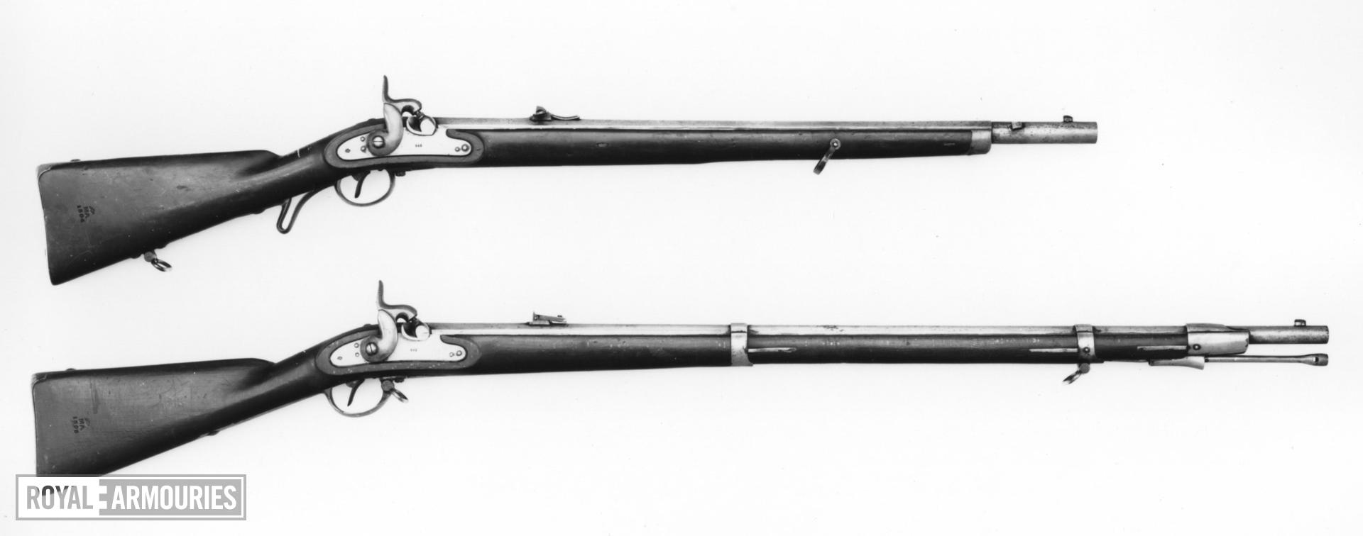 Percussion muzzle-loading rifle - Model 1854 Ordinary short model, Lorenz system action