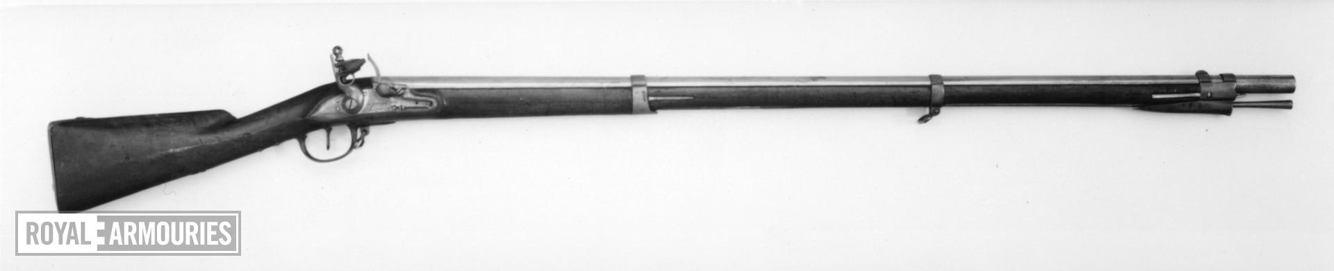 Flintlock muzzle-loading military musket - By Frey Light infantry model