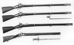 Thumbnail image of Percussion muzzle-loading military rifle-musket - Model 1853 Minie system