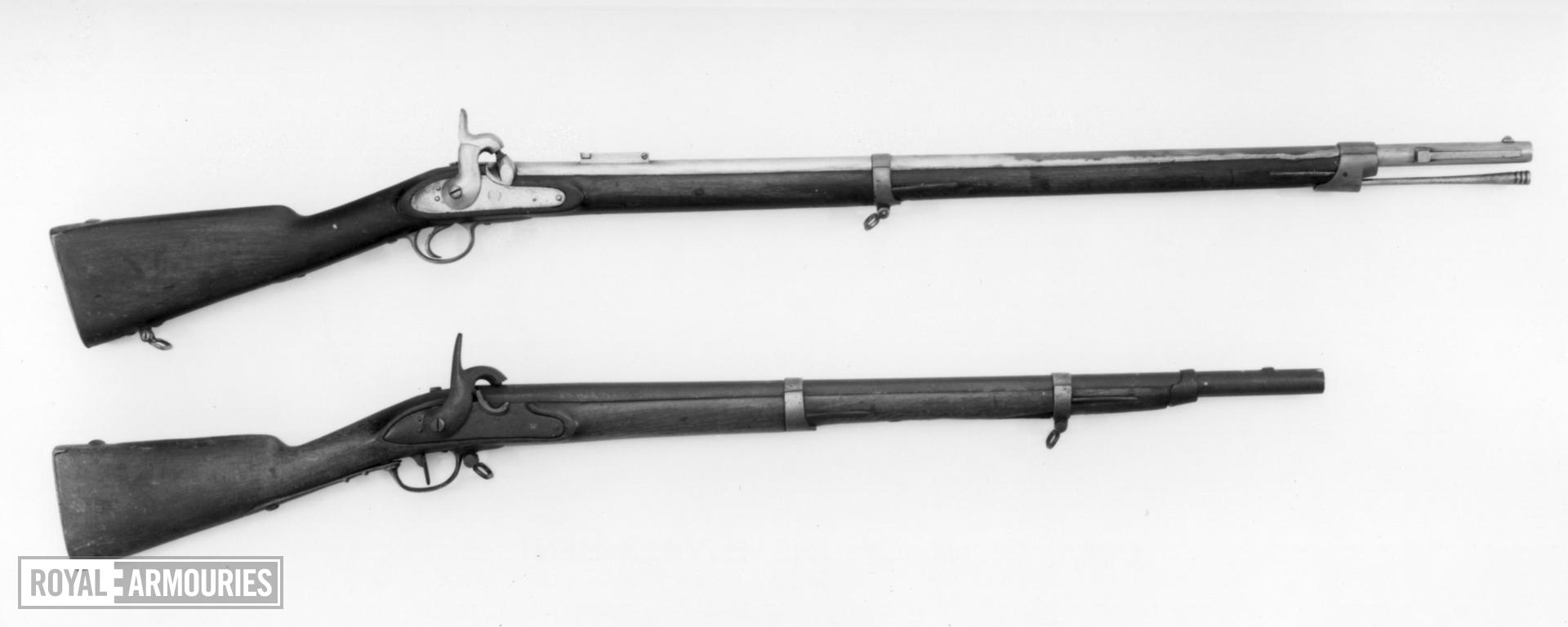 Percussion muzzle-loading military rifle