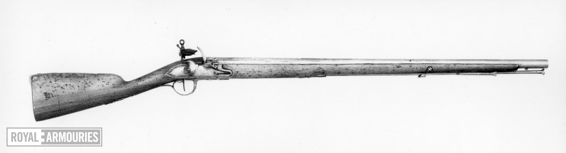 Flintlock military carbine This probably the carbine (Mousqeton) of the Maison du Roi