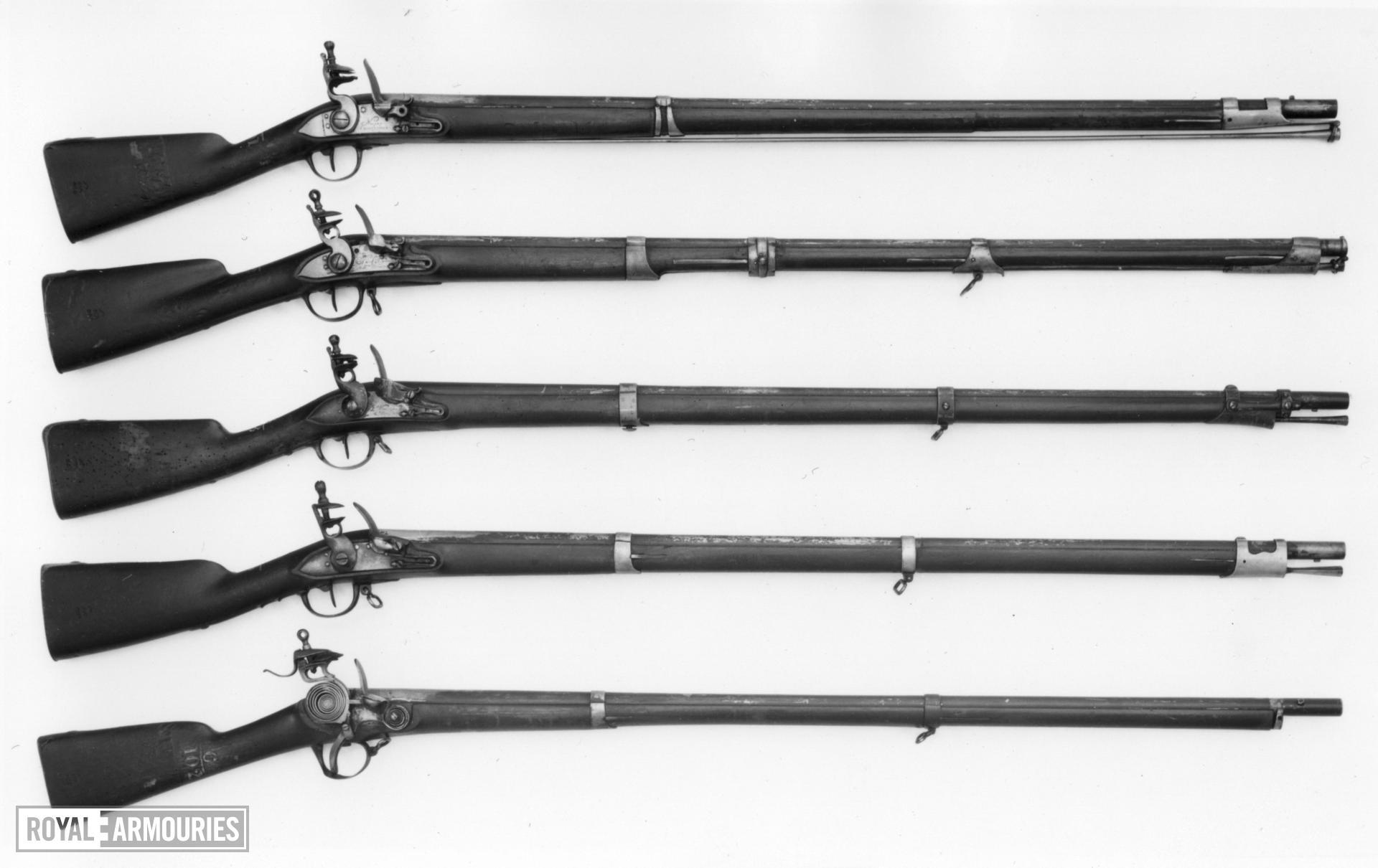 Flintlock muzzle-loading military musket - Laine Pattern