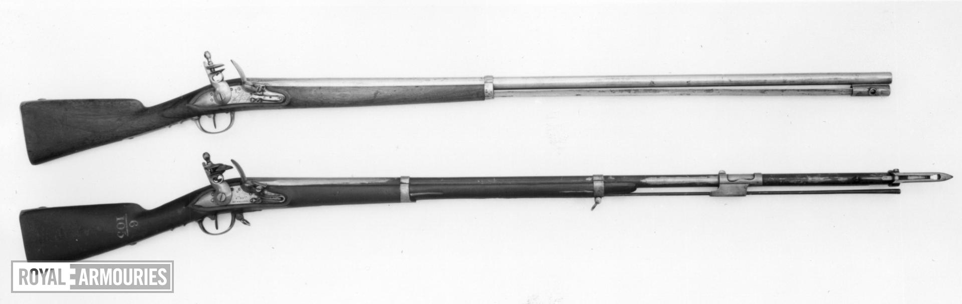 Flintlock muzzle-loading military musket - Experimental Model 1777/XIII