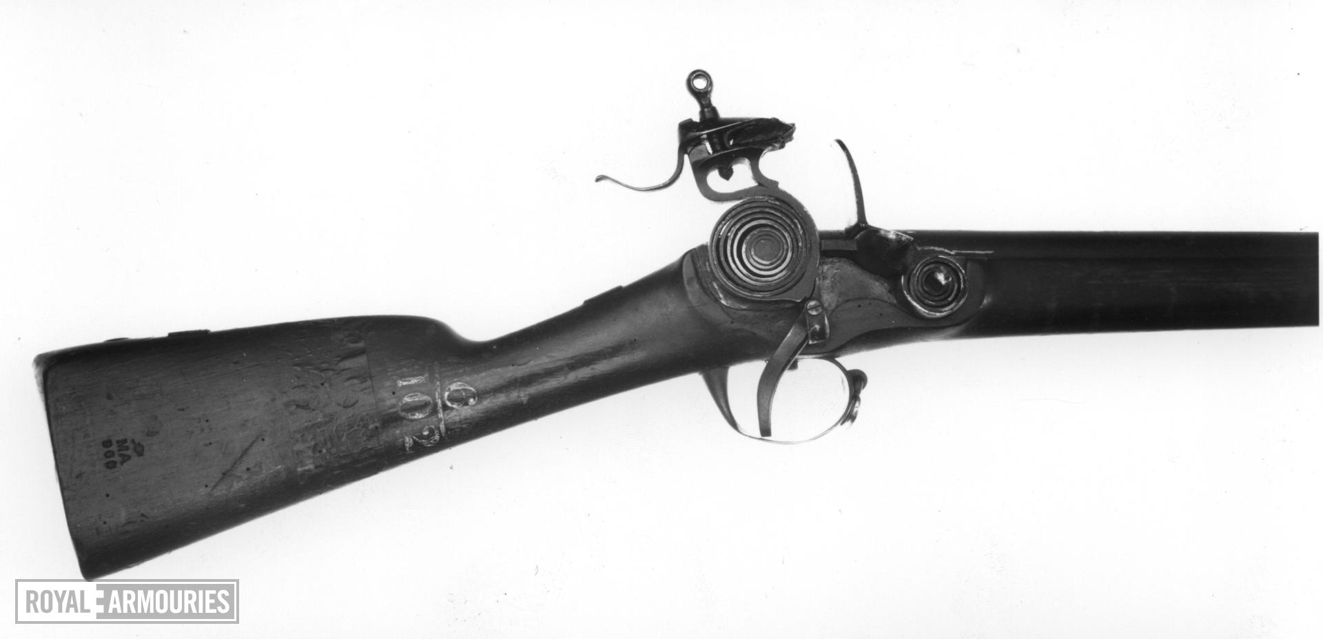 Flintlock muzzle-loading military musket