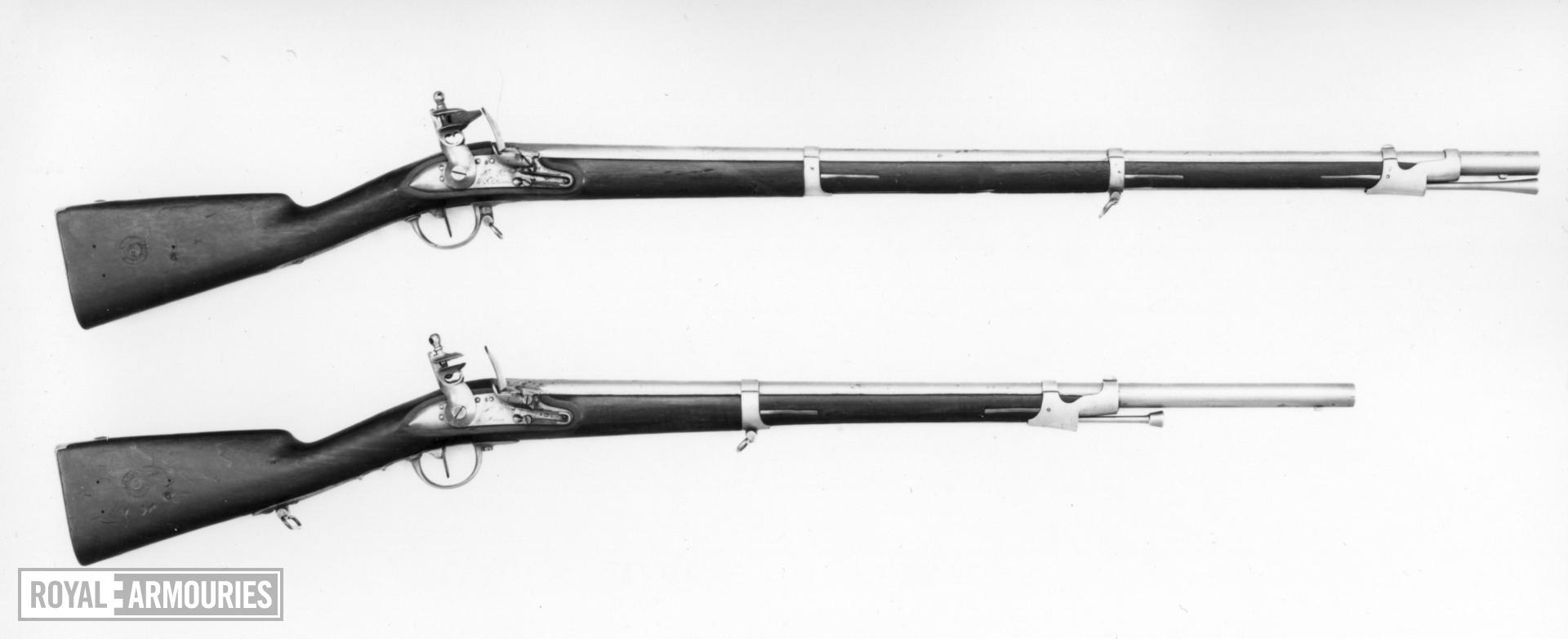 Flintlock muzzle-loading military musket - Model 1822 Dragoon