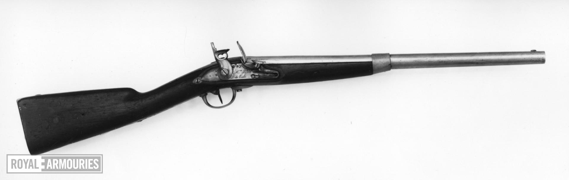 Flintlock military carbine - Model 1822