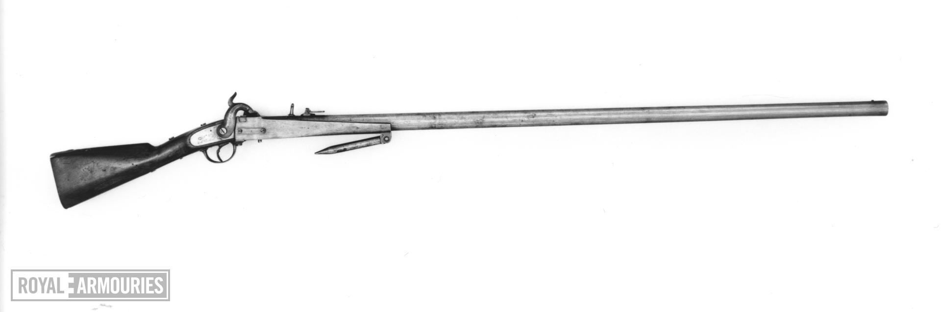Percussion breech-loading military wall gun - Model 1831