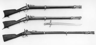 Thumbnail image of Percussion muzzle-loading military wall rifle - Model 1840 Rampart gun