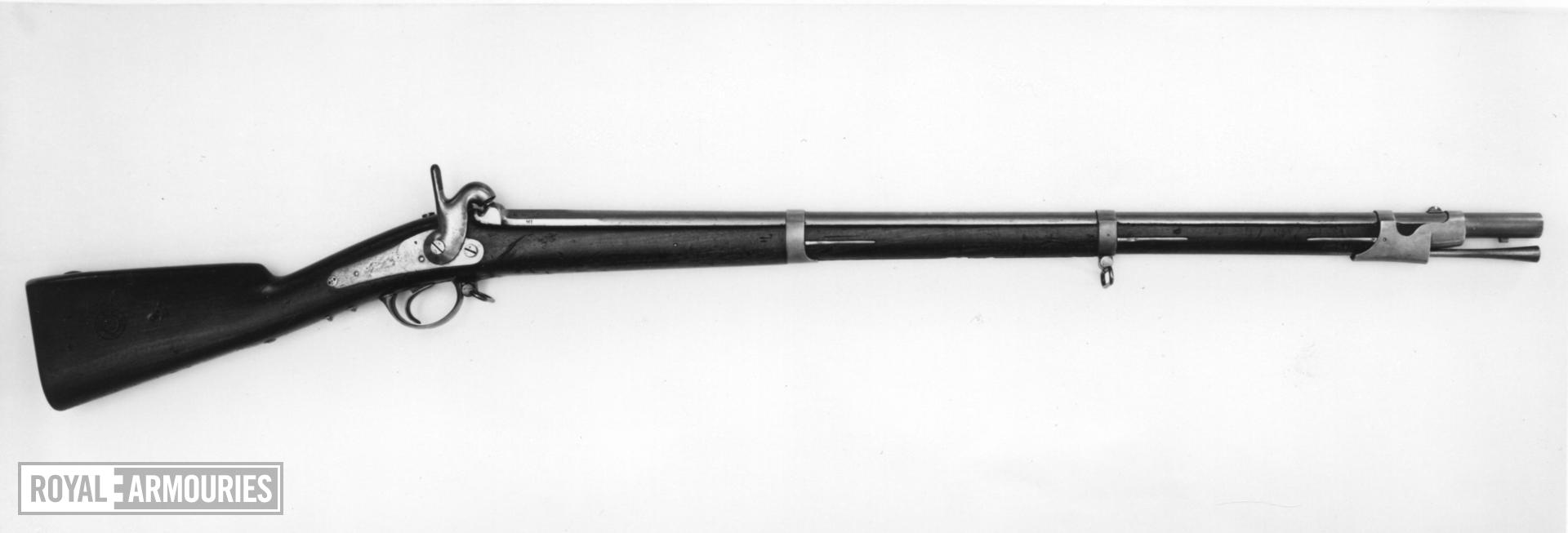 Percussion muzzle-loading military musket - Model 1853 Dragoon