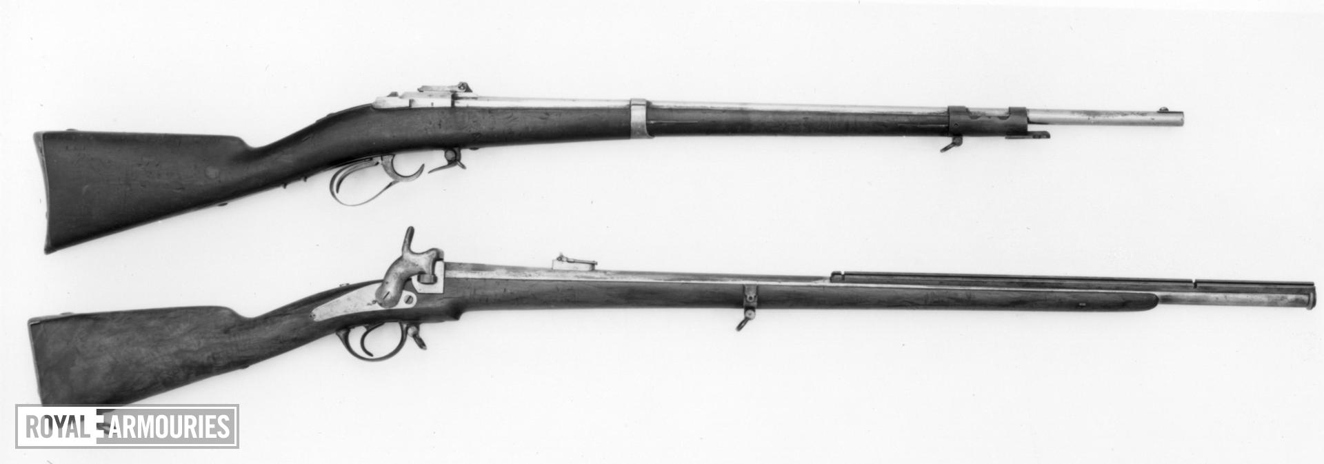 Pinfire bolt-action military rifle - Model 1858