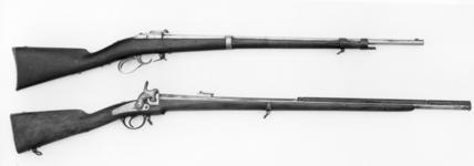 Thumbnail image of Pinfire bolt-action military rifle - Model 1858 Lance-Fusil des Cente Guardes, System Treuille de Beaulieu