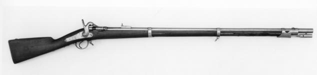 Thumbnail image of Centrefire breech-loading military rifle - Tabatiere system Converted to Tabatiere breech loading system
