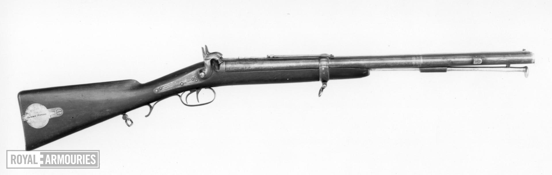 Percussion muzzle-loading double-barrelled carbine - Jacobs Carbine