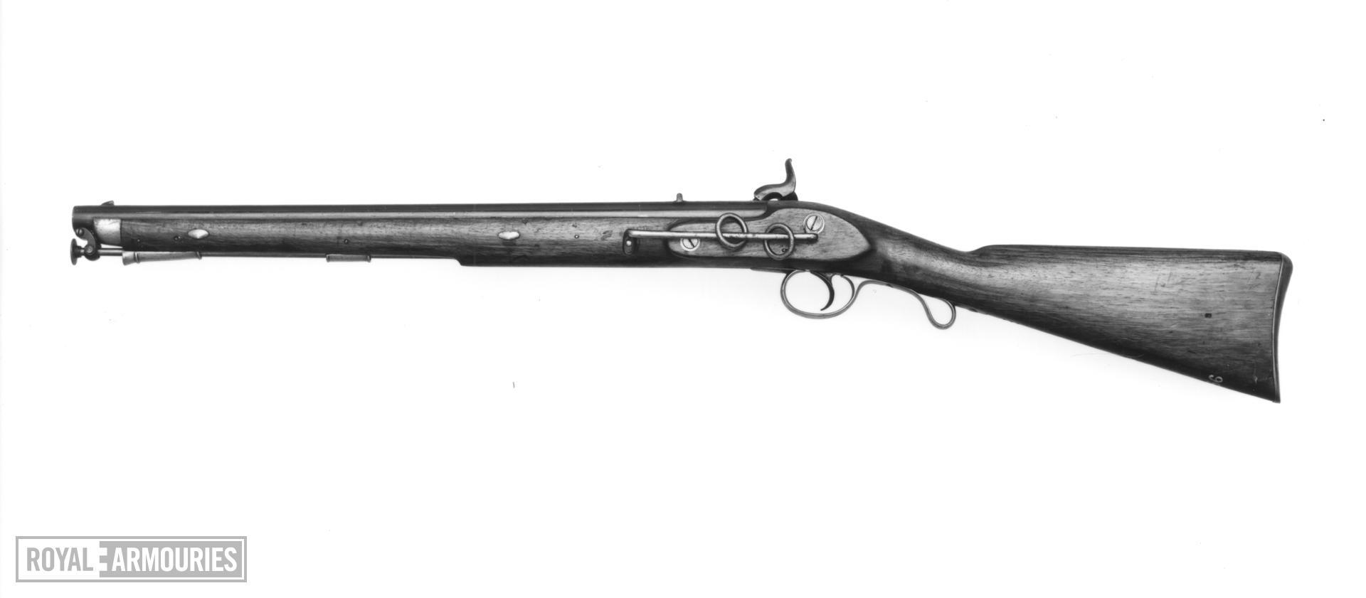 Percussion muzzle-loading military carbine East India Company Cavalry Carbine