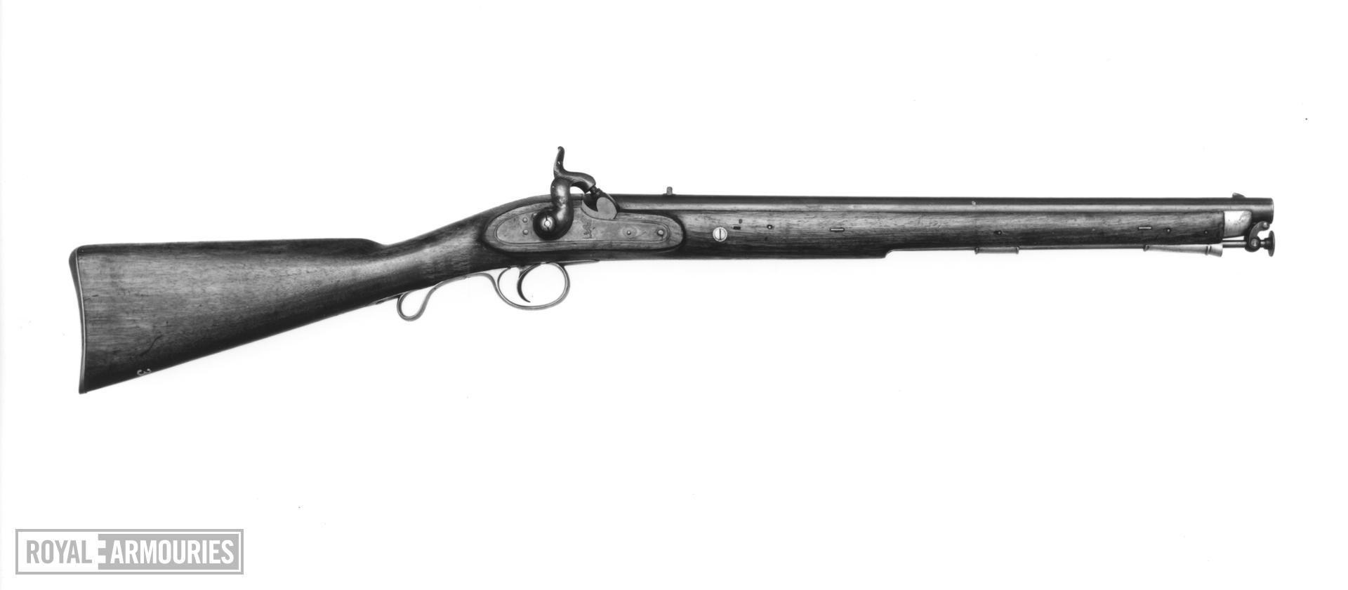 Percussion muzzle-loading military carbine