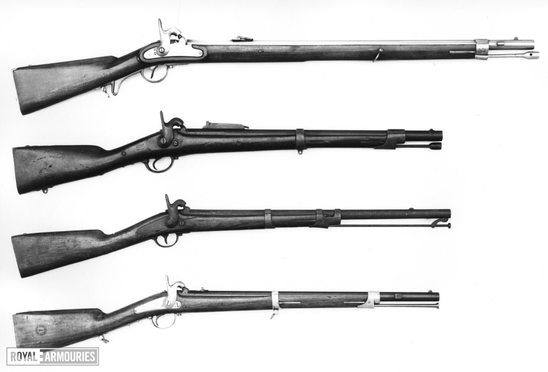 Percussion muzzle-loading military rifle - Neapolitan 32 inch, shortened