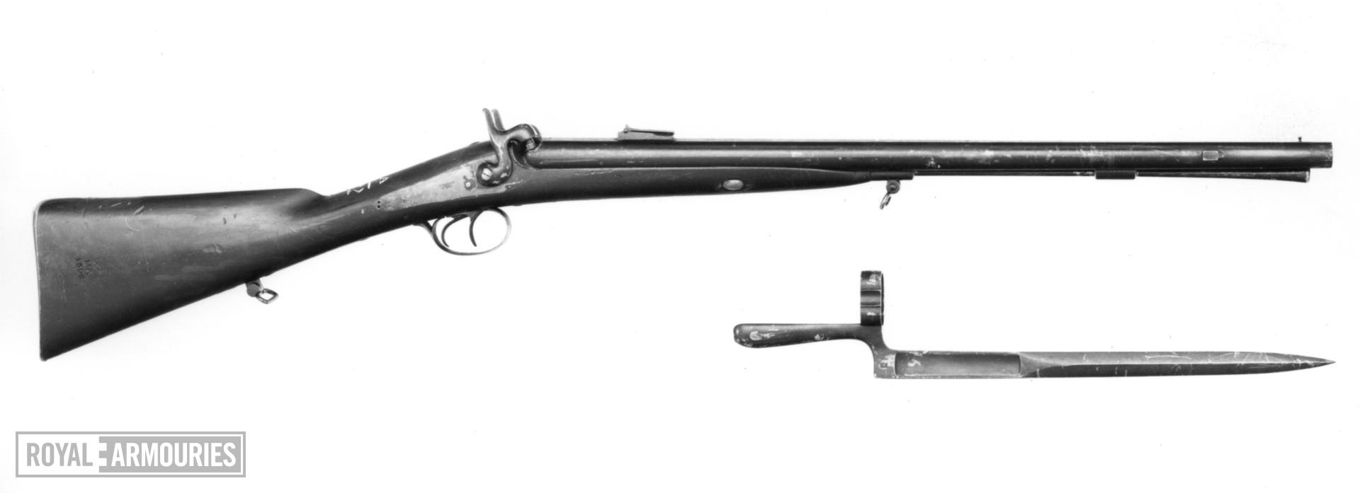 Percussion muzzle-loading double-barrelled carbine - Chasseur's Model 1858