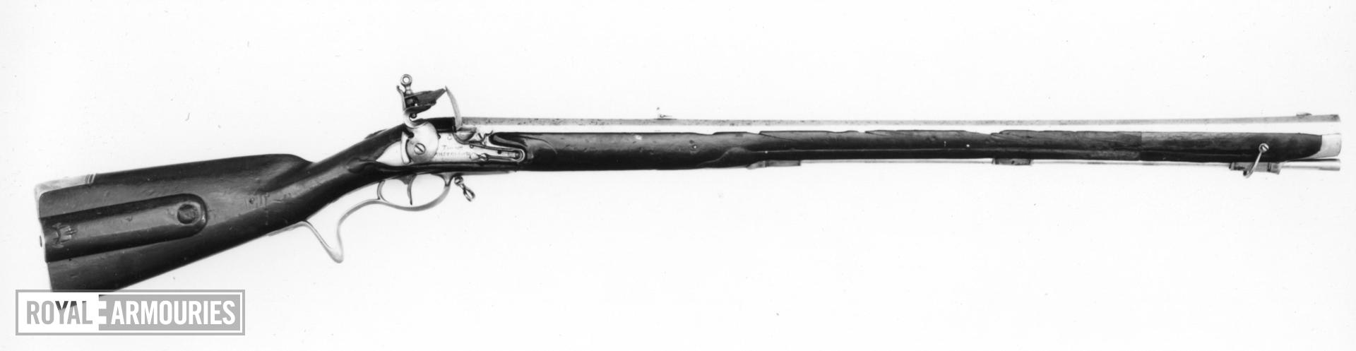 Flintlock muzzle-loading rifle - By Thome