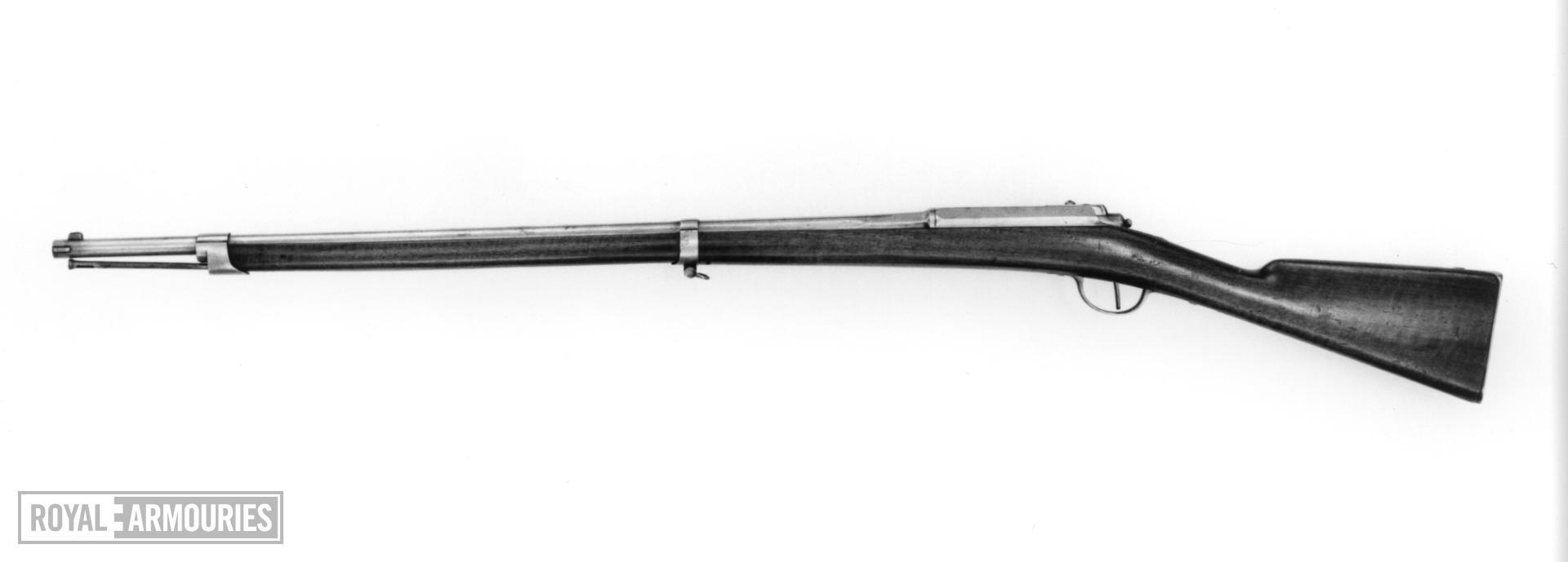 Needlefire breech-loading military rifle - Cloes System