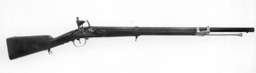 Thumbnail image of Flintlock muzzle-loading carbine - Carabinieri Model 1814 Flintlock muzzle-loading carbine, Carabinieri Model 1814, about 1830.