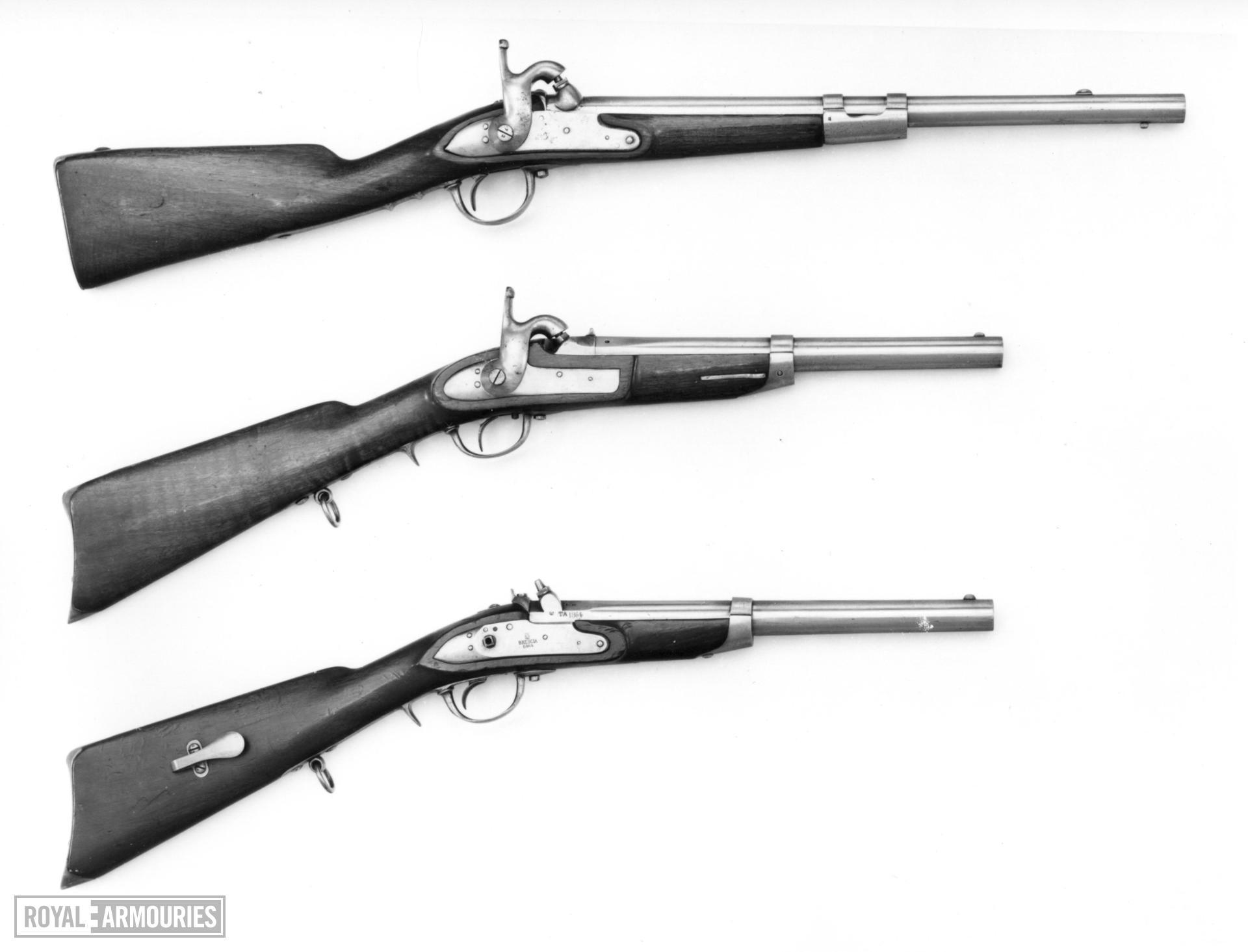 Percussion muzzle-loading military carbine - Cavalry Model 1860
