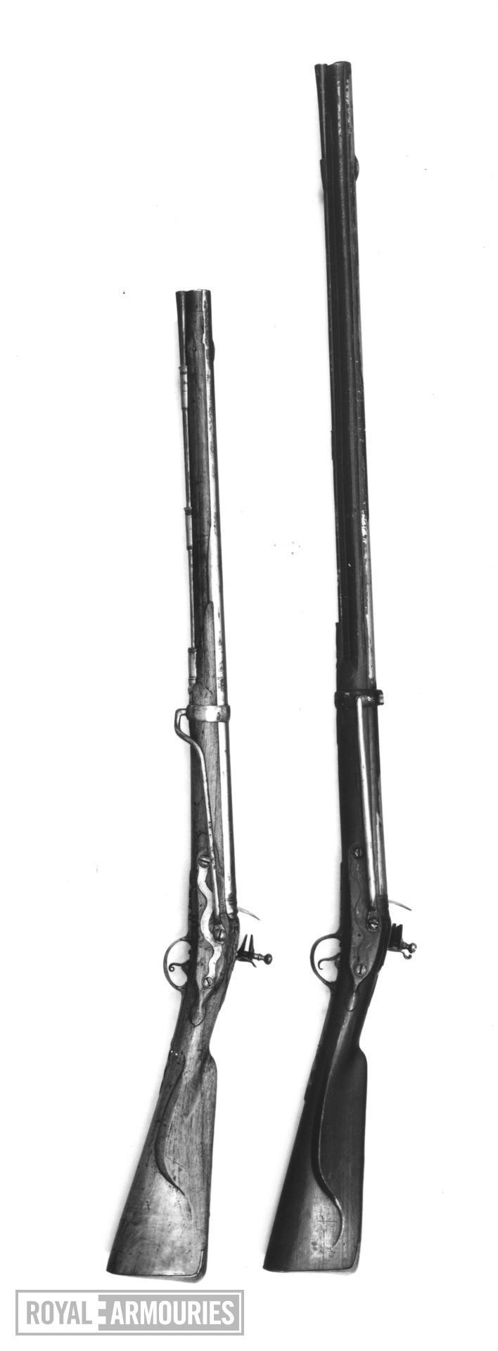 Flintlock muzzle-loading carbine - Cuirassier Model 1722 Flintlock muzzle-loading carbine, Cuirassier Model 1722, about 1750.
