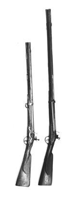 Thumbnail image of Flintlock muzzle-loading carbine - Cuirassier Model 1722 Flintlock muzzle-loading carbine, Cuirassier Model 1722, about 1750.