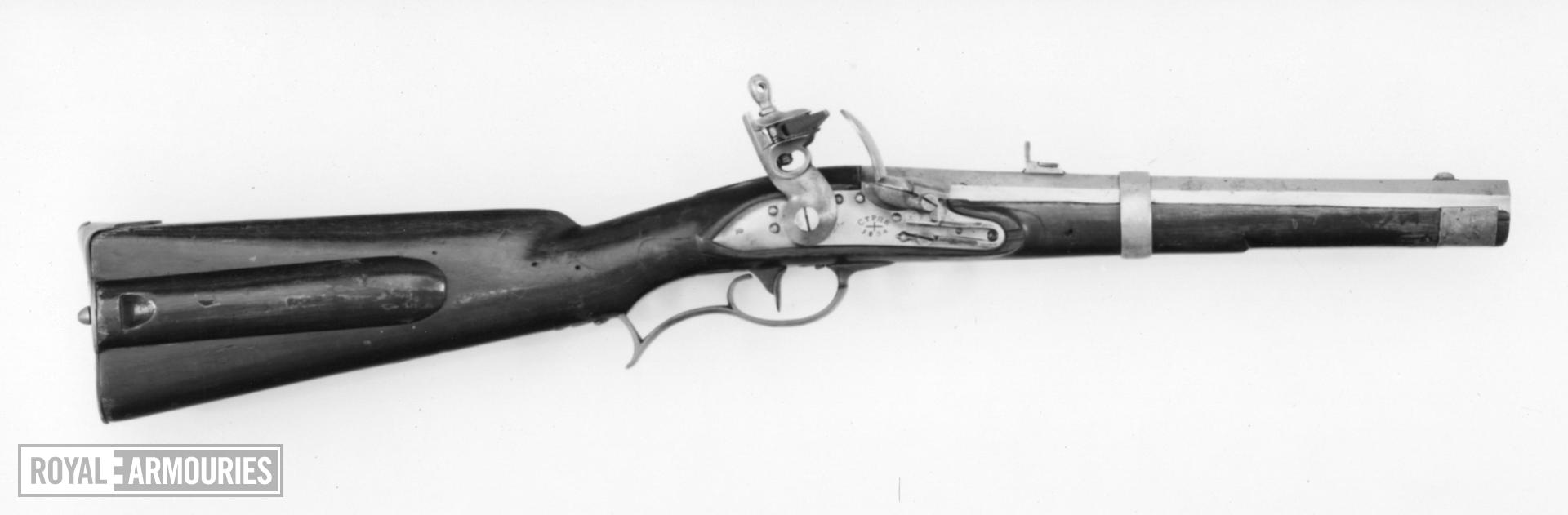 Flintlock military carbine - Model 1828 Mounted Chasseur and Hussar's Carbine