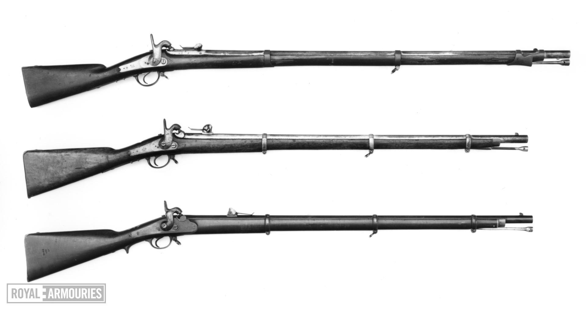 Percussion muzzle-loading military rifle - Model 1856
