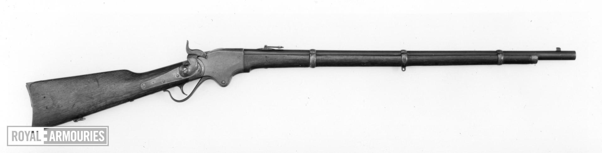 Rimfire lever-action magazine rifle - Spencer Army Model