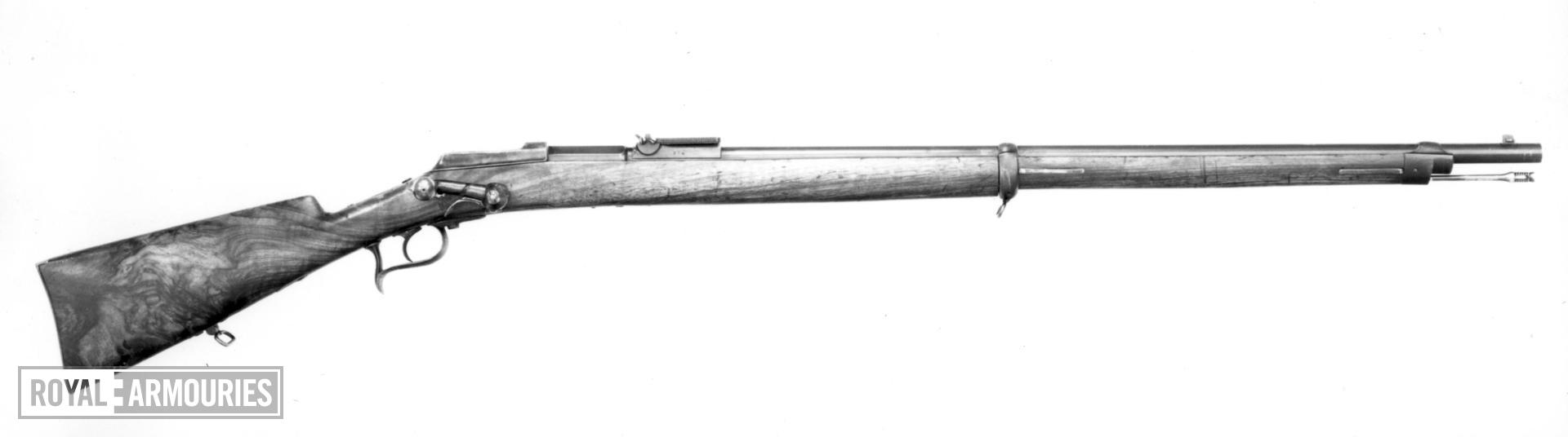 Centrefire breech-loading rifle - Sauerbrey's Patent V. Saverbray's patent