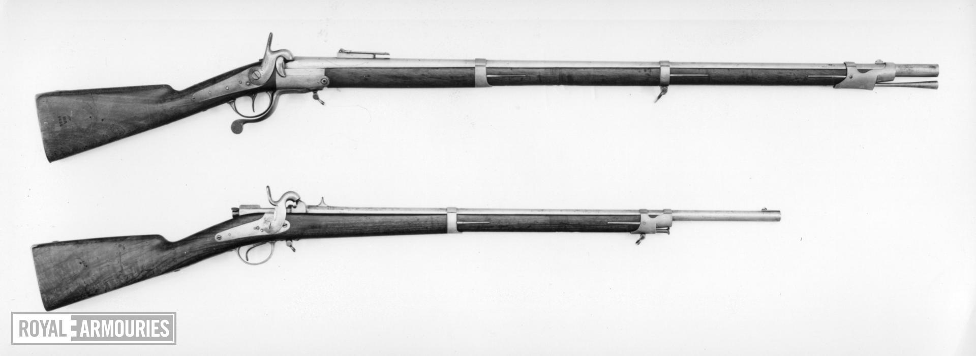 Pinfire breech-loading military rifle - By Albert Bernard