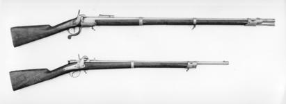 Thumbnail image of Pinfire breech-loading military rifle - By Albert Bernard Lefaucheux system