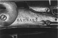 Thumbnail image of Flintlock muzzle-loading military musket - By Barbar Officers fusil